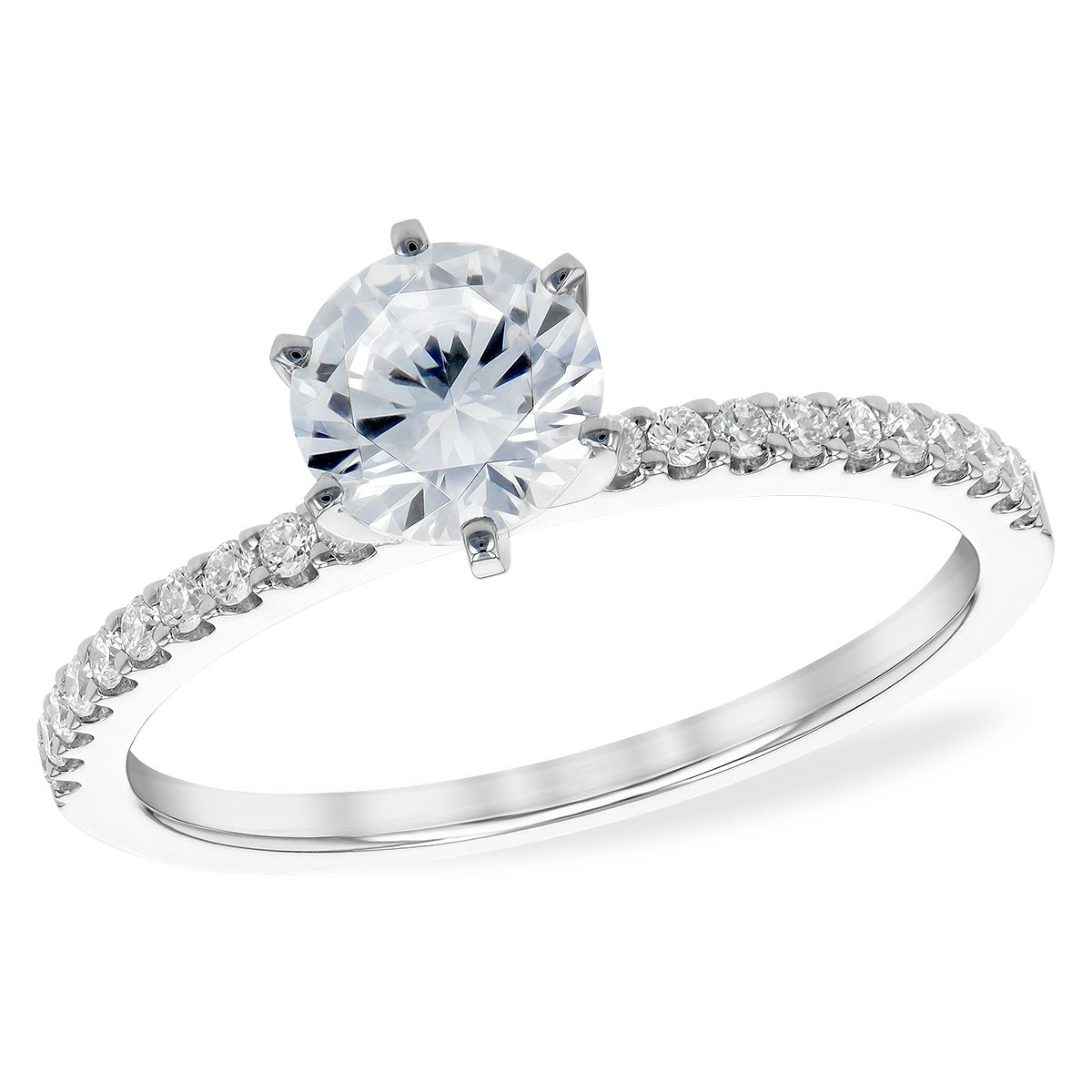 Classic Diamond Band Engagement Ring by Allison Kaufman