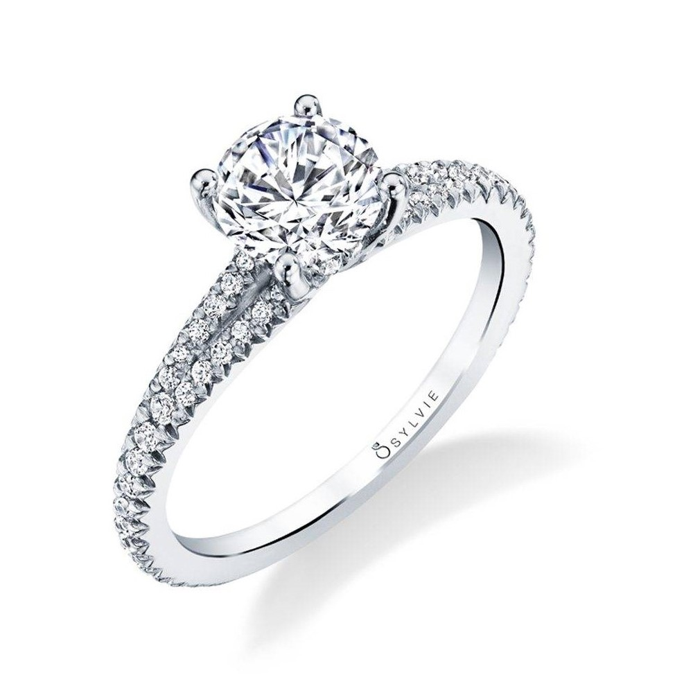 Classic Split Shank Engagement Ring by Sylvie