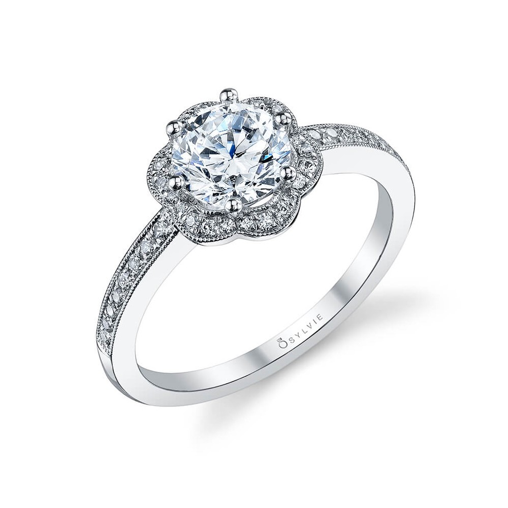Award Winning Floral Engagement Ring by Sylvie