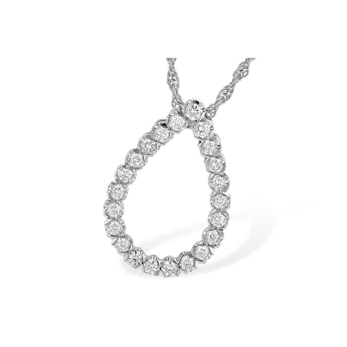 Pear Shape Diamond Pendant by Allison Kaufman
